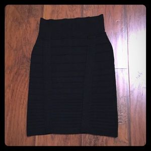 Rock & Republic Bandage Black Skirt